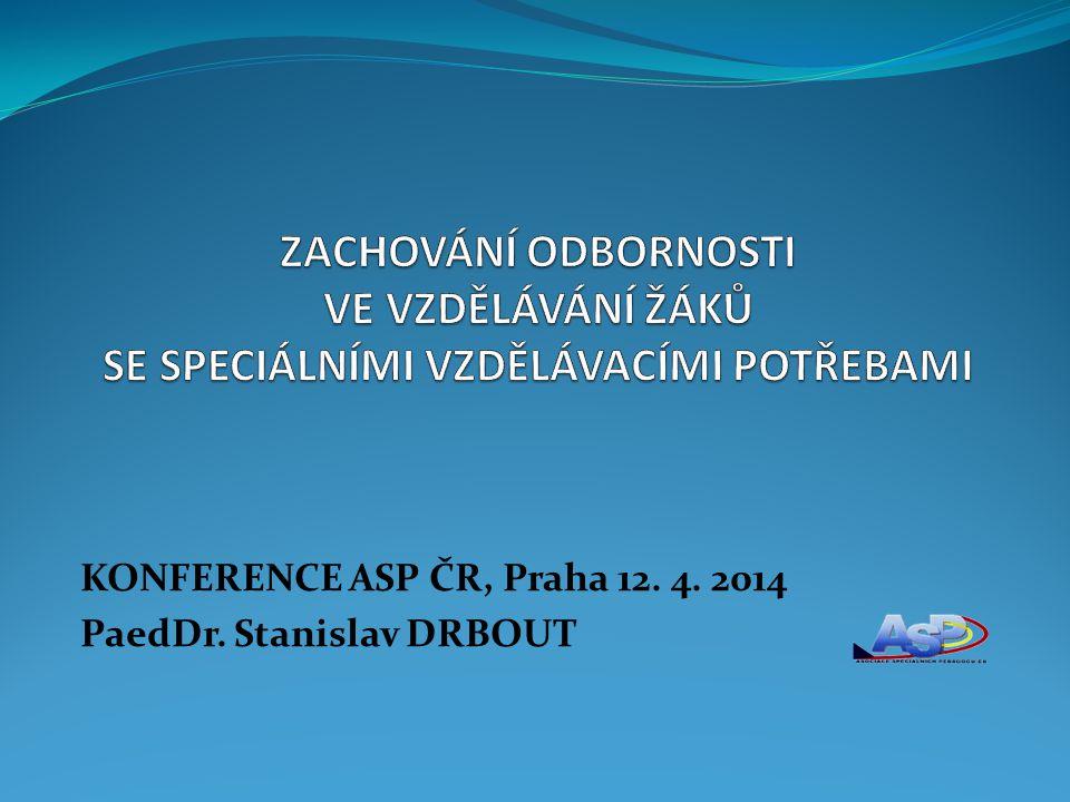 KONFERENCE ASP ČR, Praha 12. 4. 2014 PaedDr. Stanislav DRBOUT