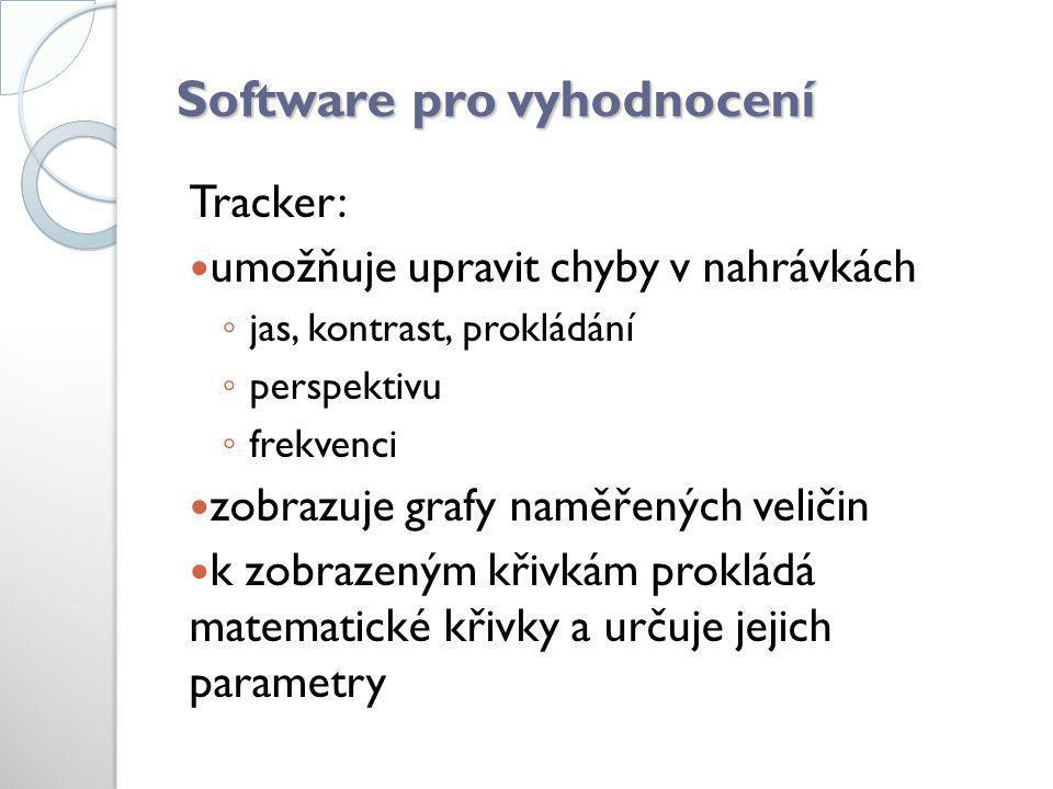 Software pro vyhodnocení