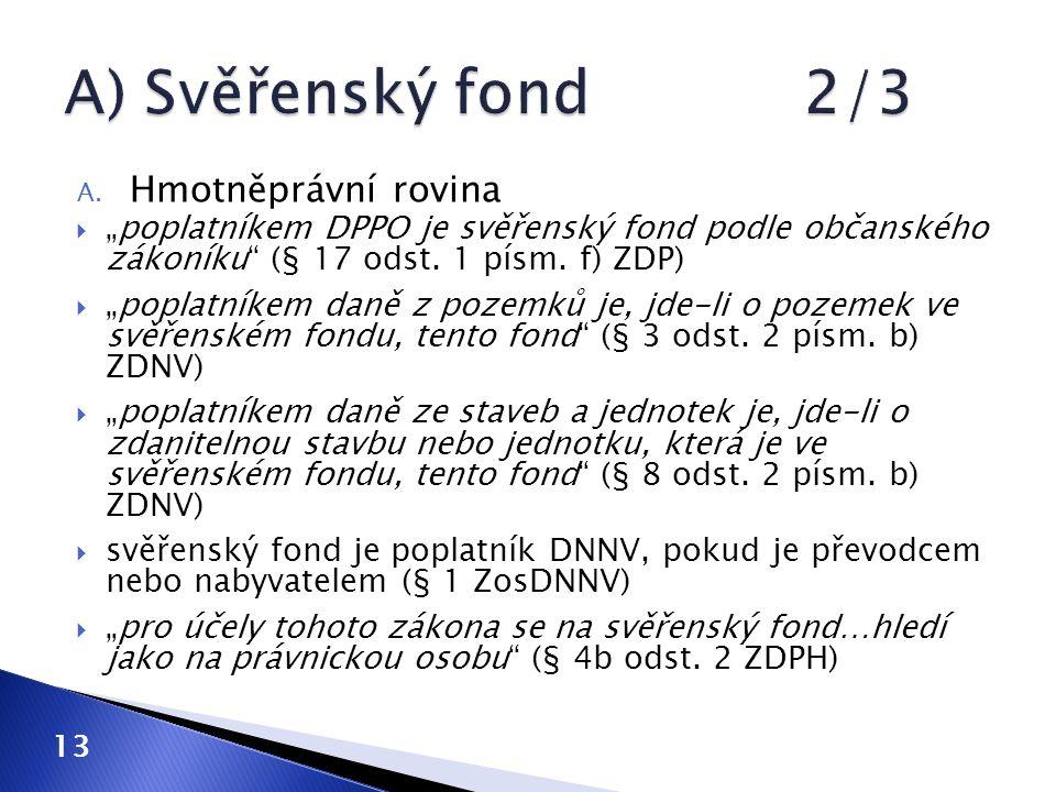 A) Svěřenský fond 2/3 Hmotněprávní rovina
