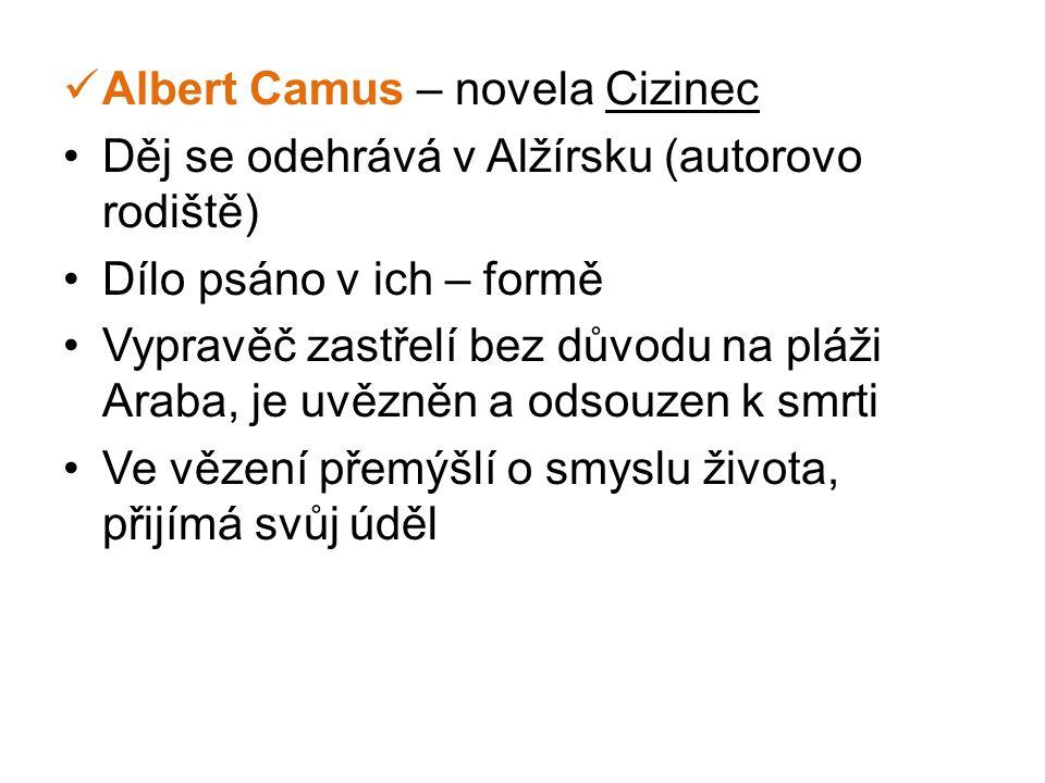 Albert Camus – novela Cizinec