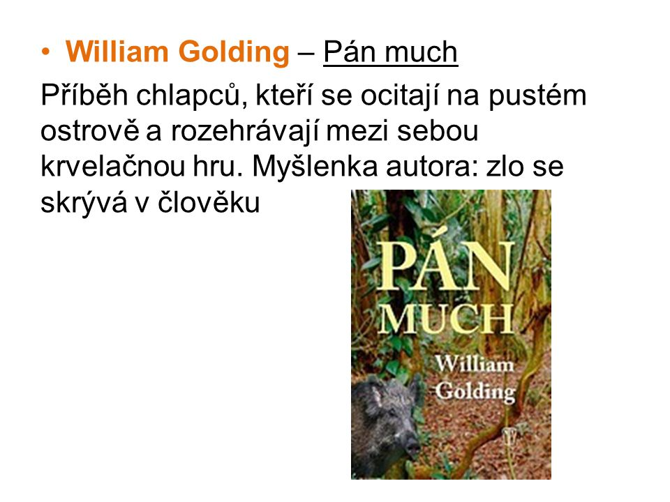 William Golding – Pán much