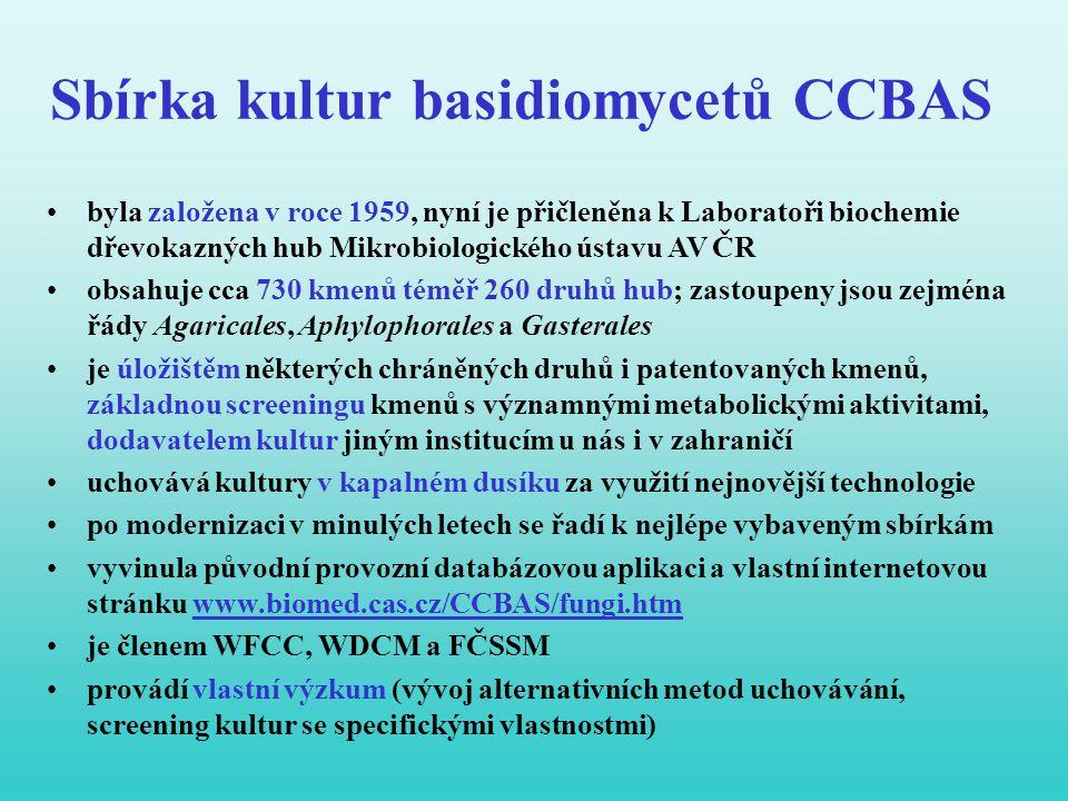 Sbírka kultur basidiomycetů CCBAS