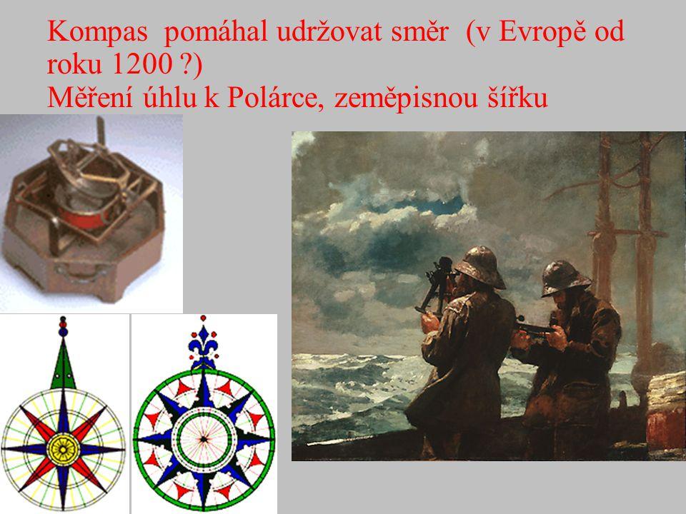 Kompas pomáhal udržovat směr (v Evropě od roku 1200 )
