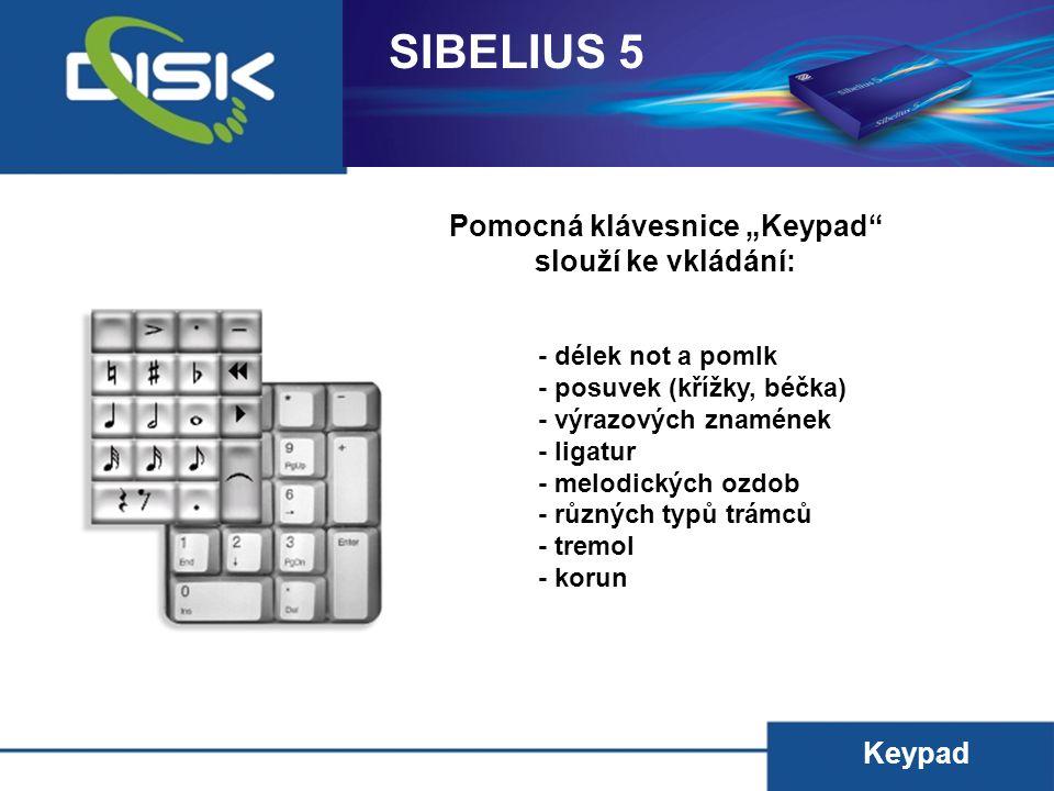 """Pomocná klávesnice """"Keypad"""