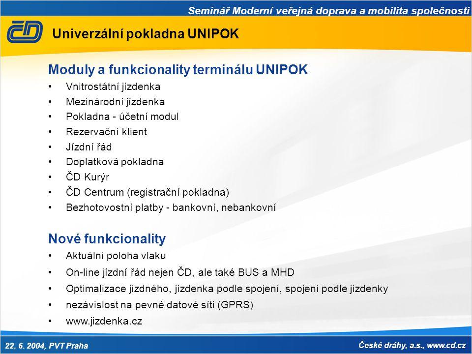 Univerzální pokladna UNIPOK
