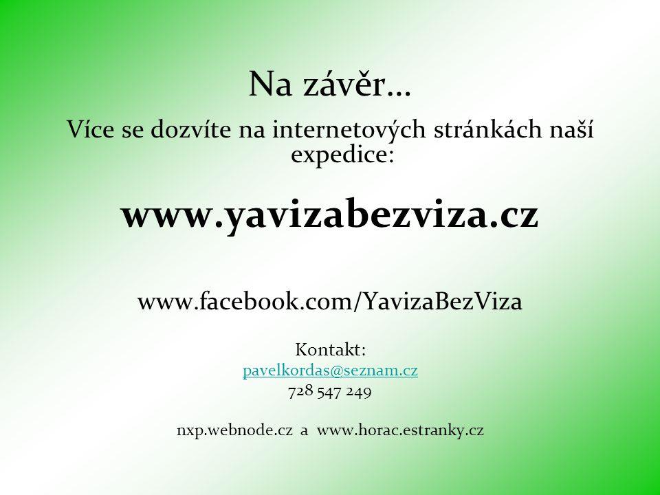 www.yavizabezviza.cz Na závěr…