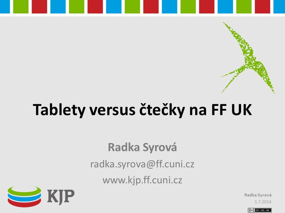 Tablety versus čtečky na FF UK