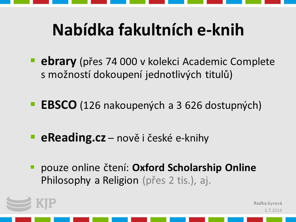 Nabídka fakultních e-knih