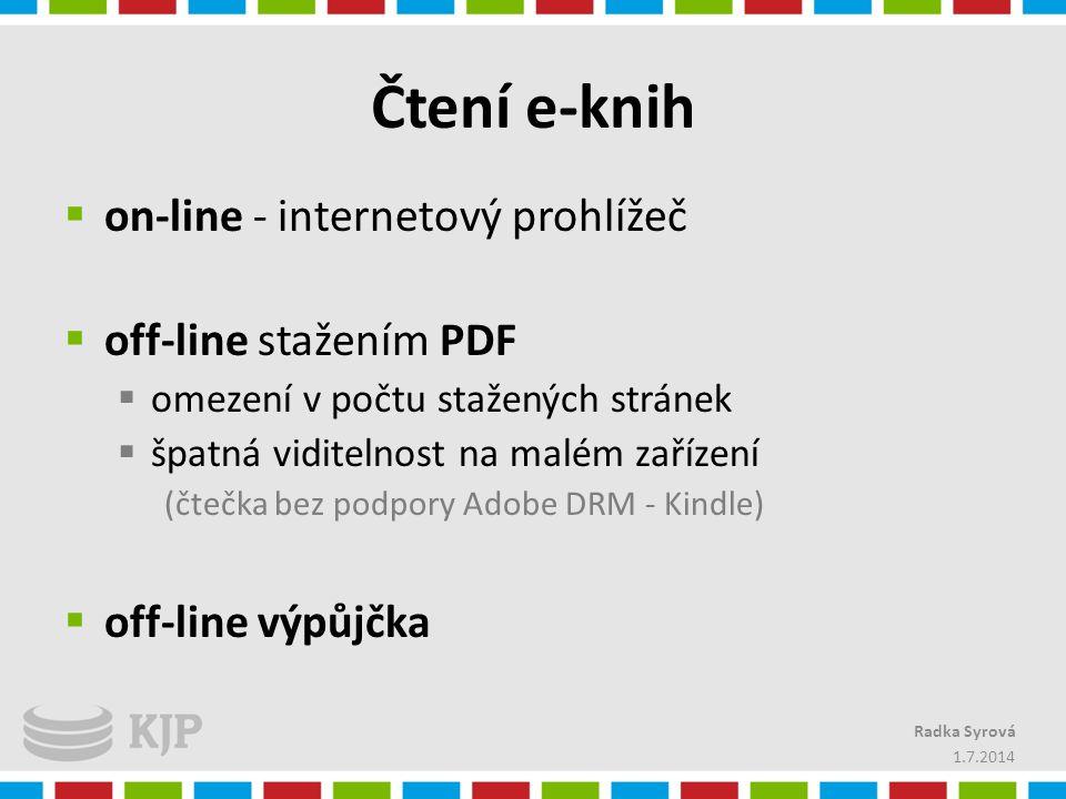 Čtení e-knih on-line - internetový prohlížeč off-line stažením PDF
