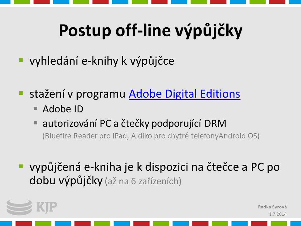 Postup off-line výpůjčky