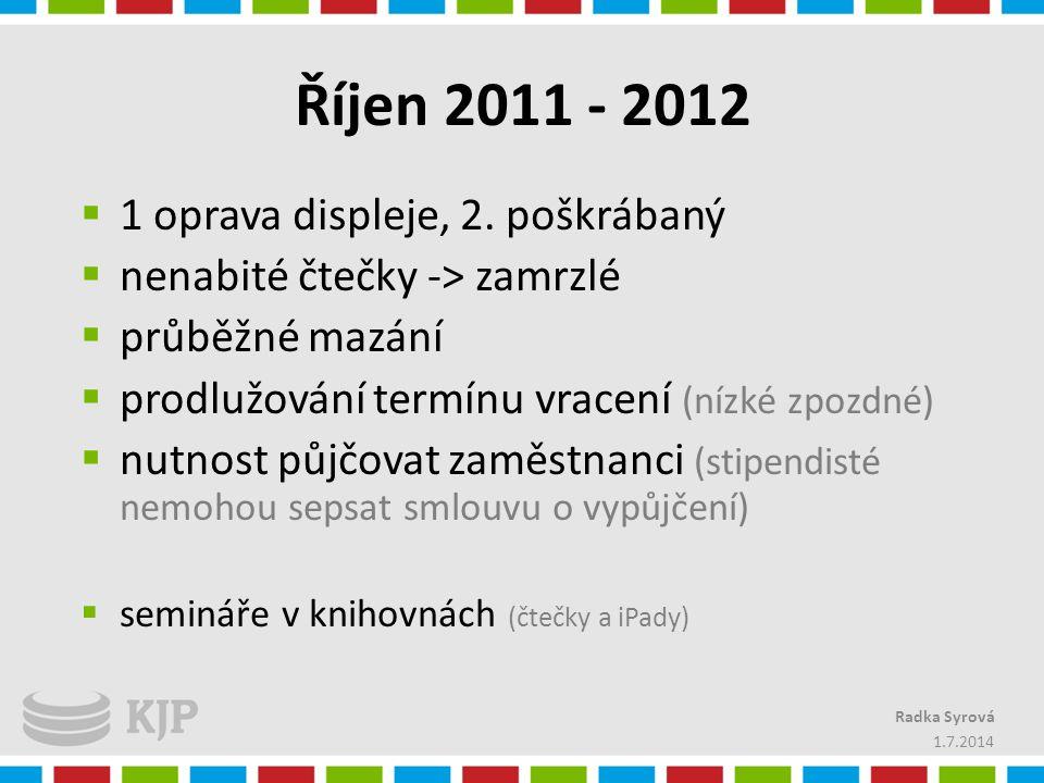Říjen 2011 - 2012 1 oprava displeje, 2. poškrábaný