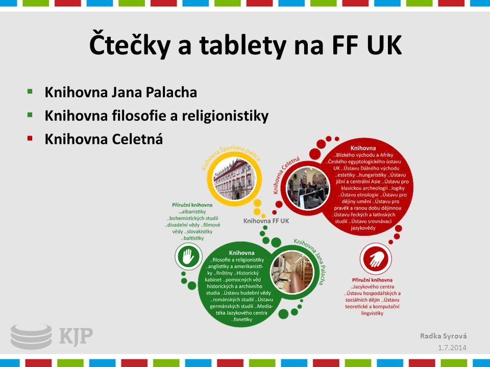 Čtečky a tablety na FF UK