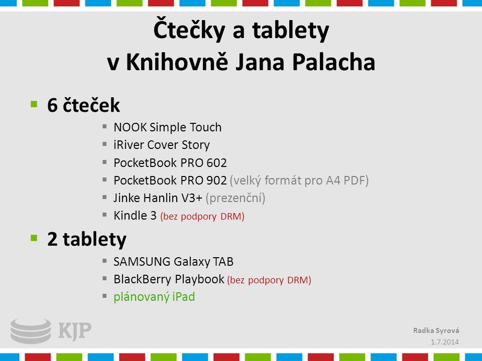 Čtečky a tablety v Knihovně Jana Palacha