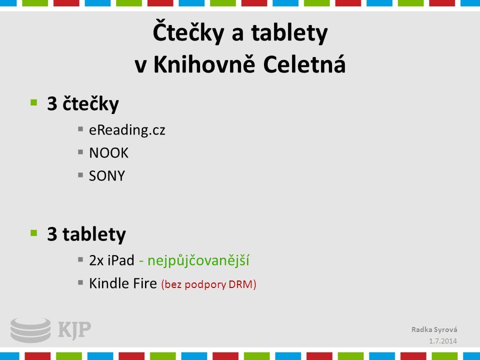 Čtečky a tablety v Knihovně Celetná