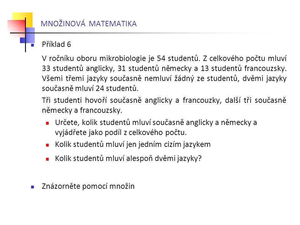 MNOŽINOVÁ MATEMATIKA Příklad 6.