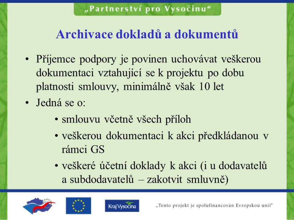 Archivace dokladů a dokumentů