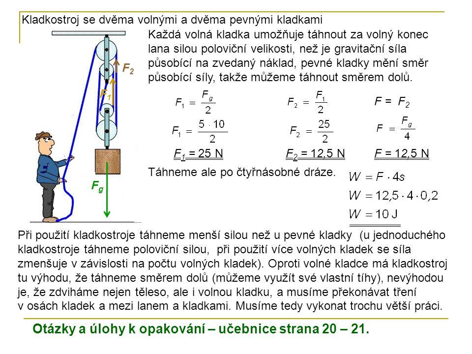 Otázky a úlohy k opakování – učebnice strana 20 – 21.