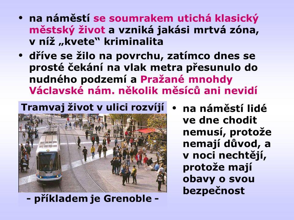 Tramvaj život v ulici rozvíjí - příkladem je Grenoble -