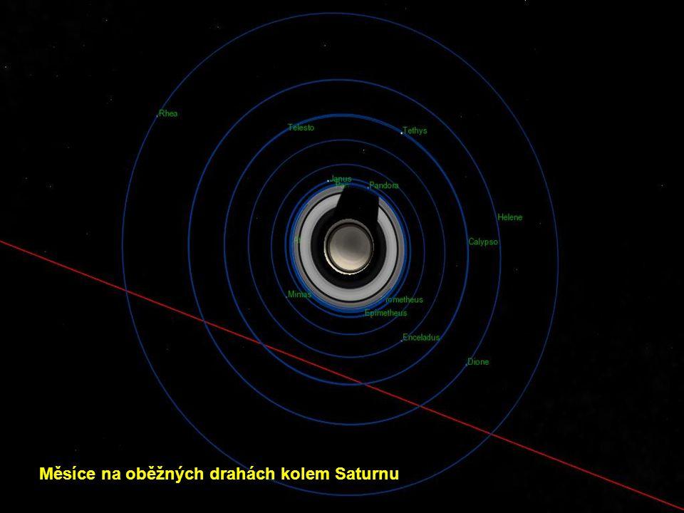 Měsíce na oběžných drahách kolem Saturnu
