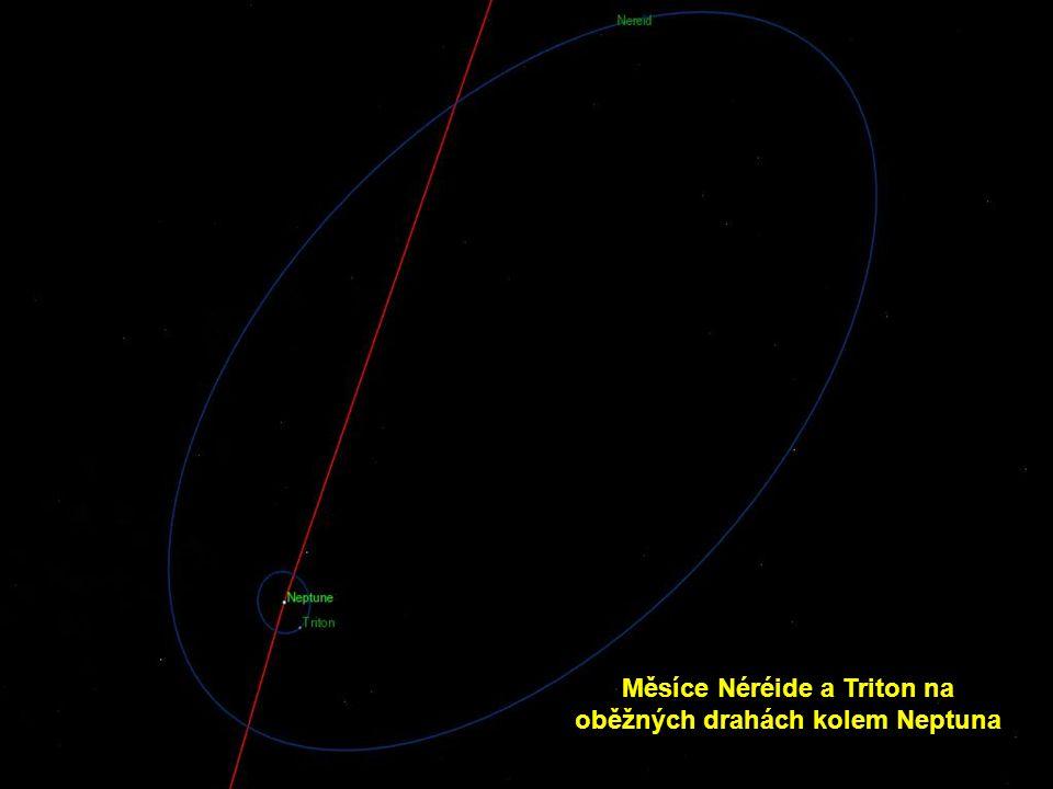 Měsíce Néréide a Triton na