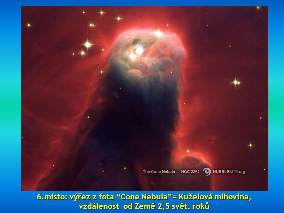 6.místo: výřez z fota Cone Nebula = Kuželová mlhovina,