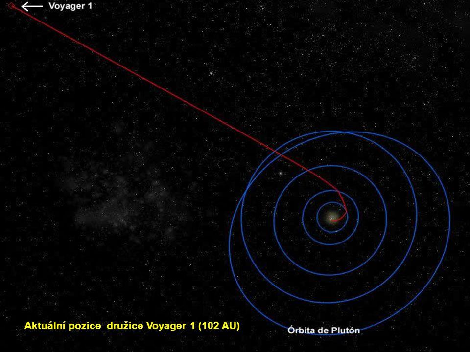 Aktuální pozice družice Voyager 1 (102 AU)