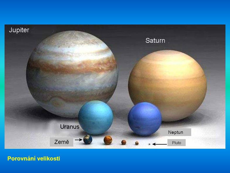 Neptun Země Pluto Porovnání velikosti