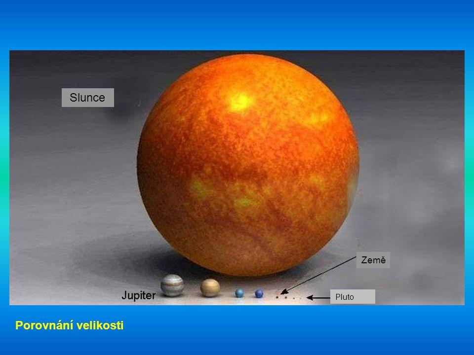 Slunce Země Pluto Porovnání velikosti