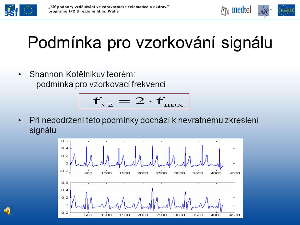 Podmínka pro vzorkování signálu