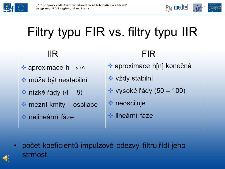 Filtry typu FIR vs. filtry typu IIR
