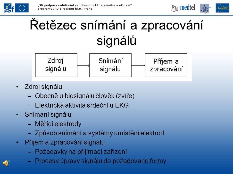 Řetězec snímání a zpracování signálů