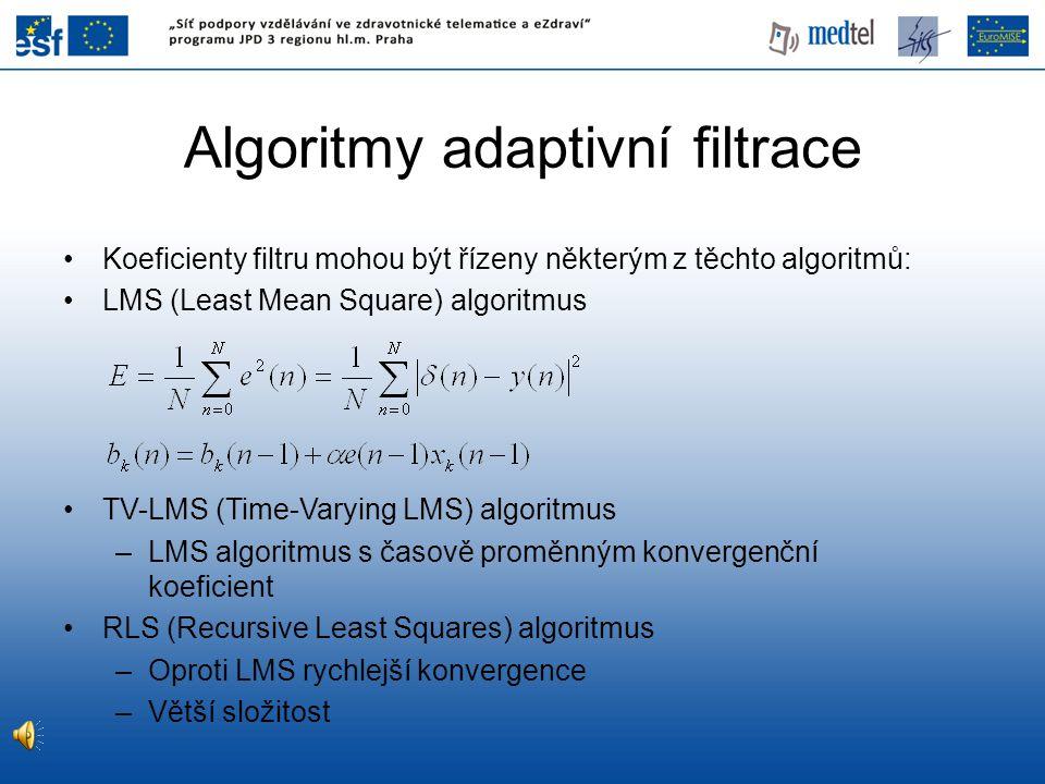 Algoritmy adaptivní filtrace