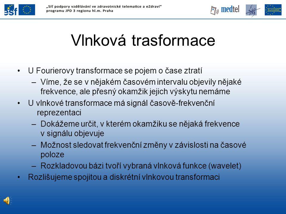 Vlnková trasformace U Fourierovy transformace se pojem o čase ztratí