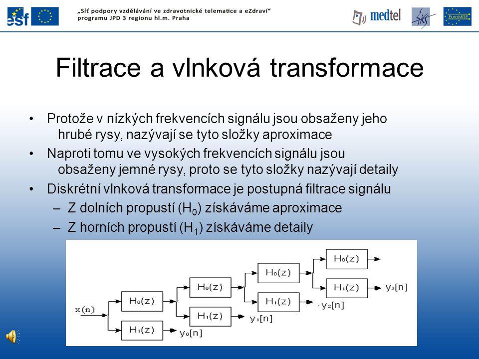 Filtrace a vlnková transformace