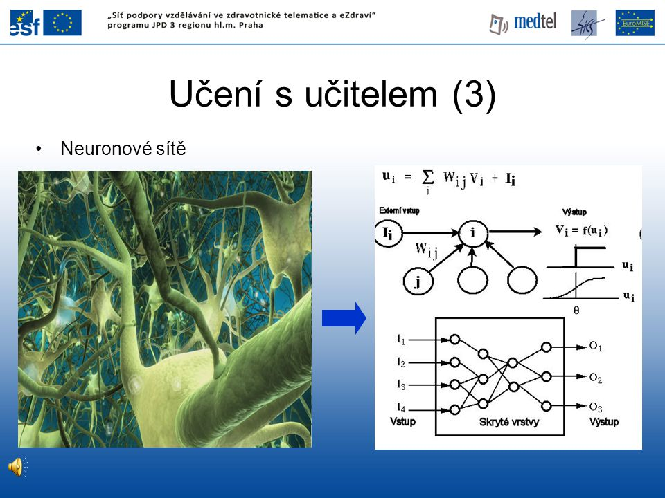 Učení s učitelem (3) Neuronové sítě