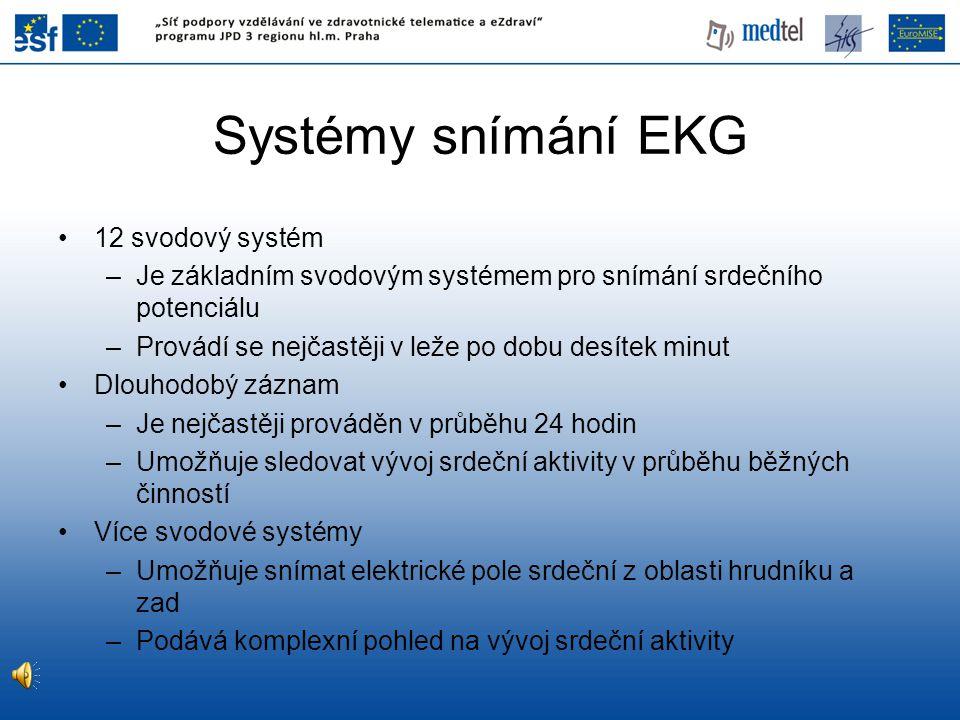 Systémy snímání EKG 12 svodový systém