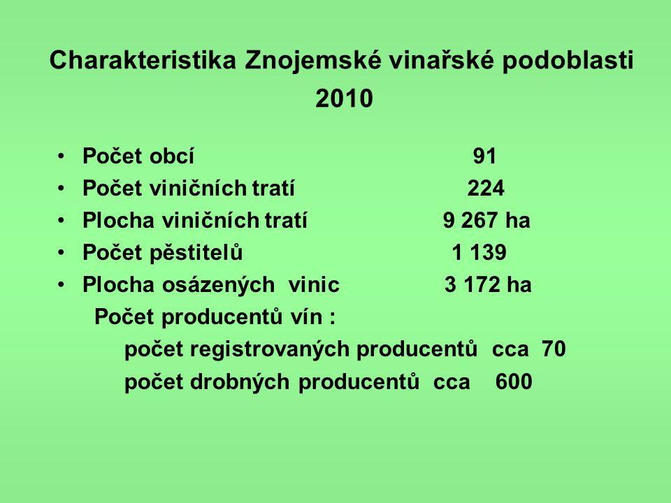 Charakteristika Znojemské vinařské podoblasti 2010