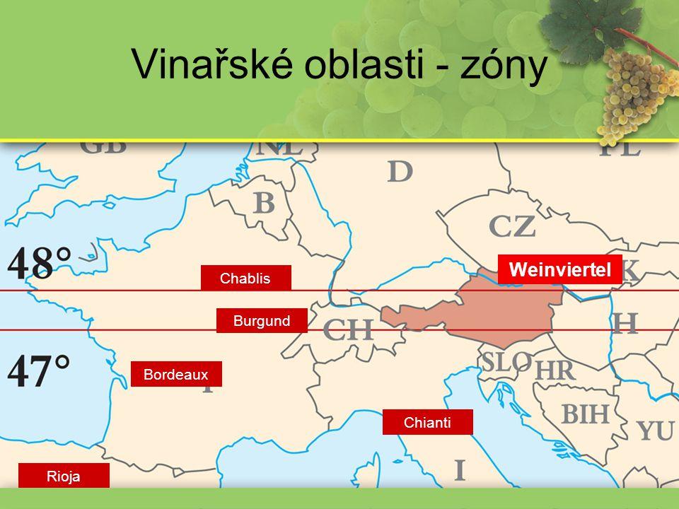 Vinařské oblasti - zóny