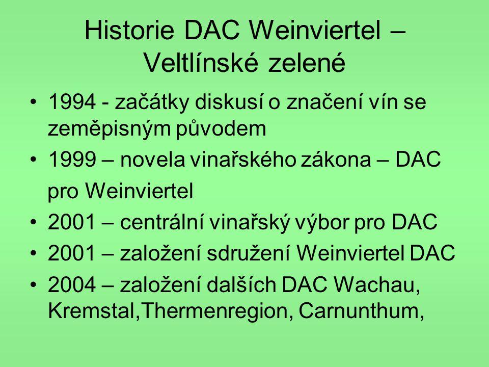 Historie DAC Weinviertel – Veltlínské zelené
