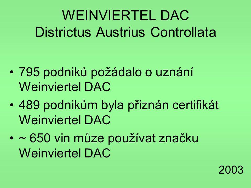 WEINVIERTEL DAC Districtus Austrius Controllata