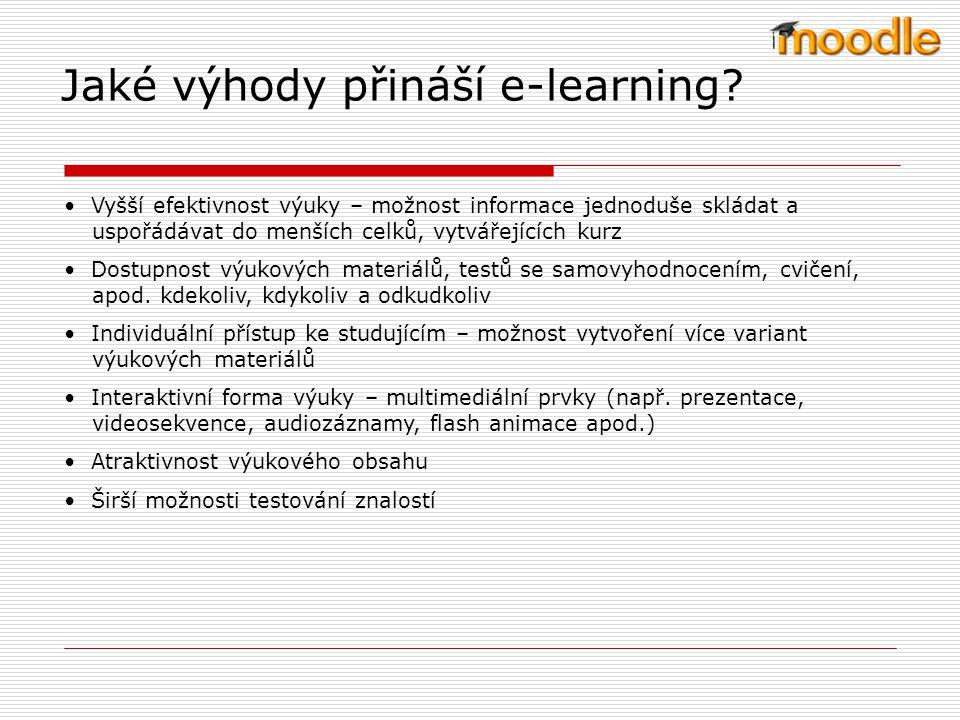 Jaké výhody přináší e-learning