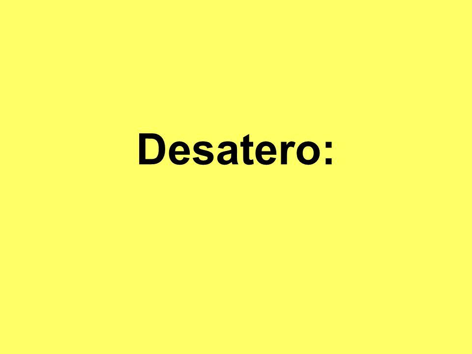 Desatero: