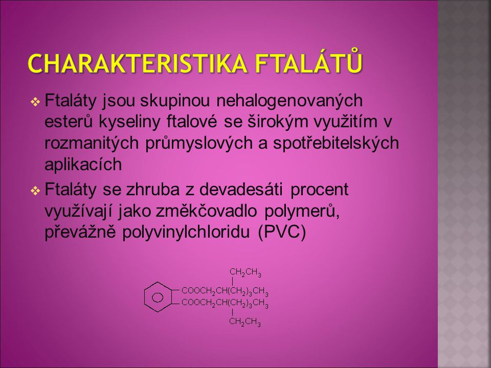Charakteristika ftalátů