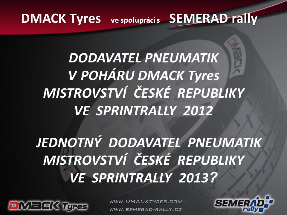 DMACK Tyres ve spolupráci s SEMERAD rally
