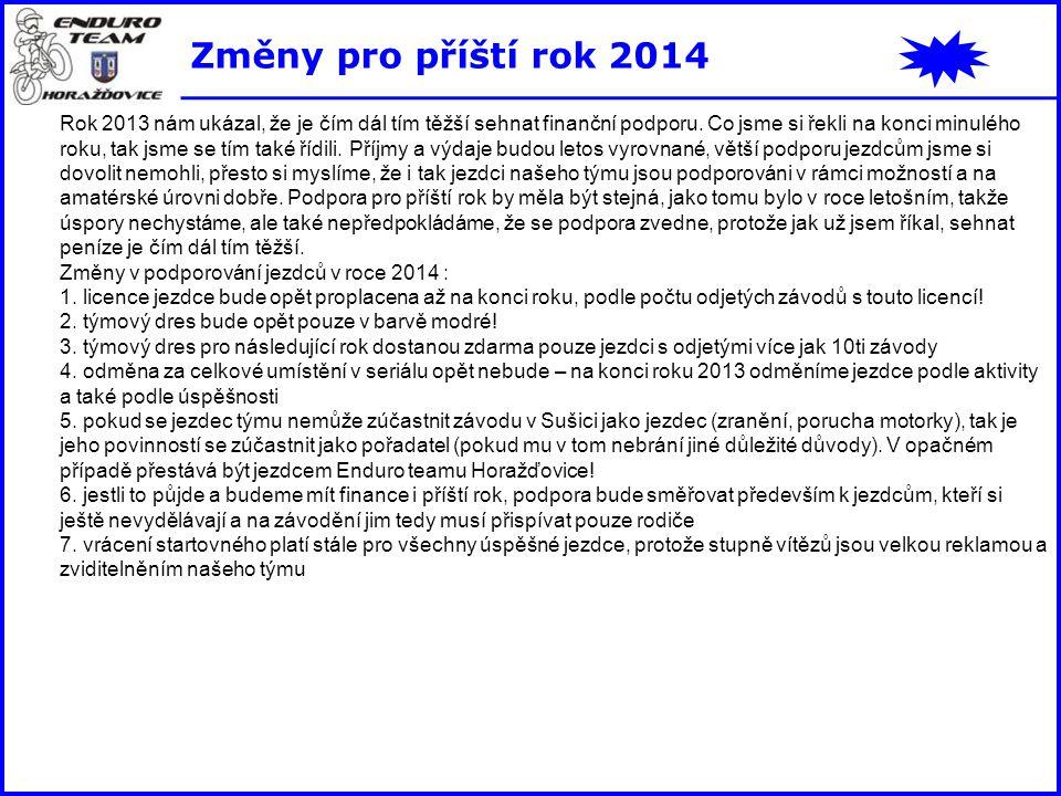 Změny pro příští rok 2014
