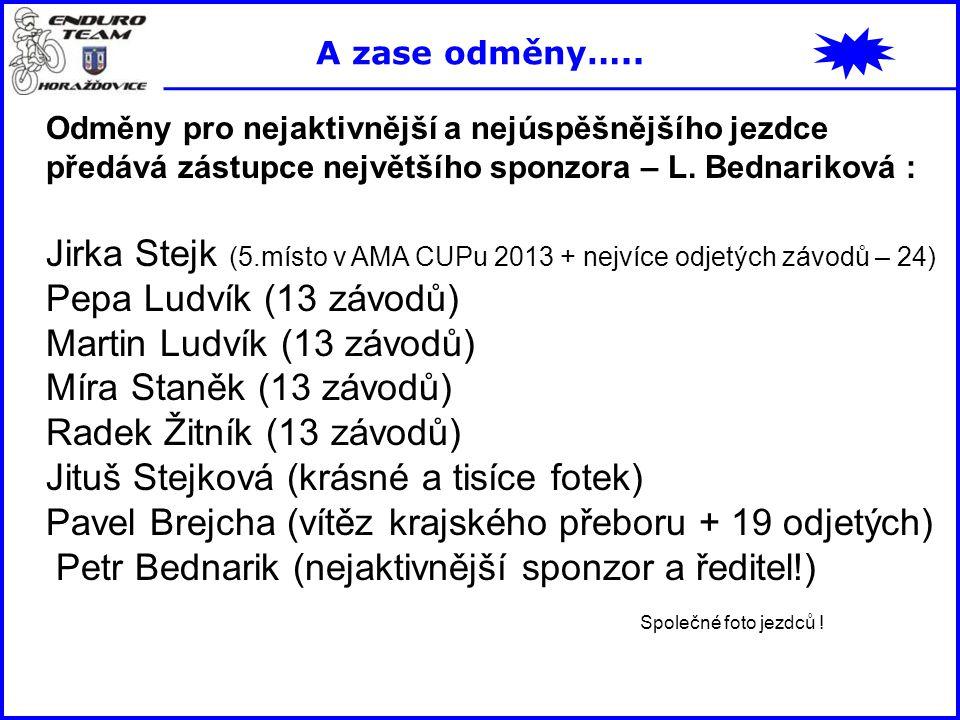 Jirka Stejk (5.místo v AMA CUPu 2013 + nejvíce odjetých závodů – 24)