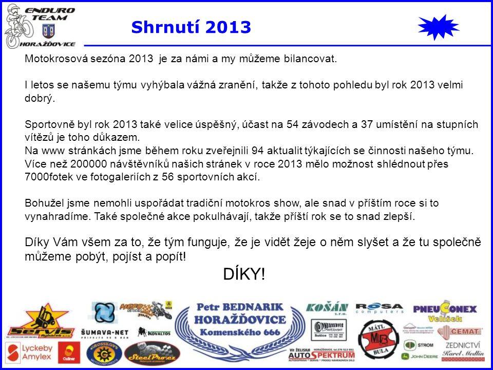 Shrnutí 2013 Motokrosová sezóna 2013 je za námi a my můžeme bilancovat.