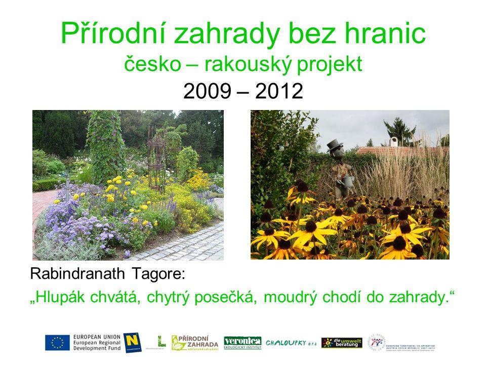 Přírodní zahrady bez hranic česko – rakouský projekt