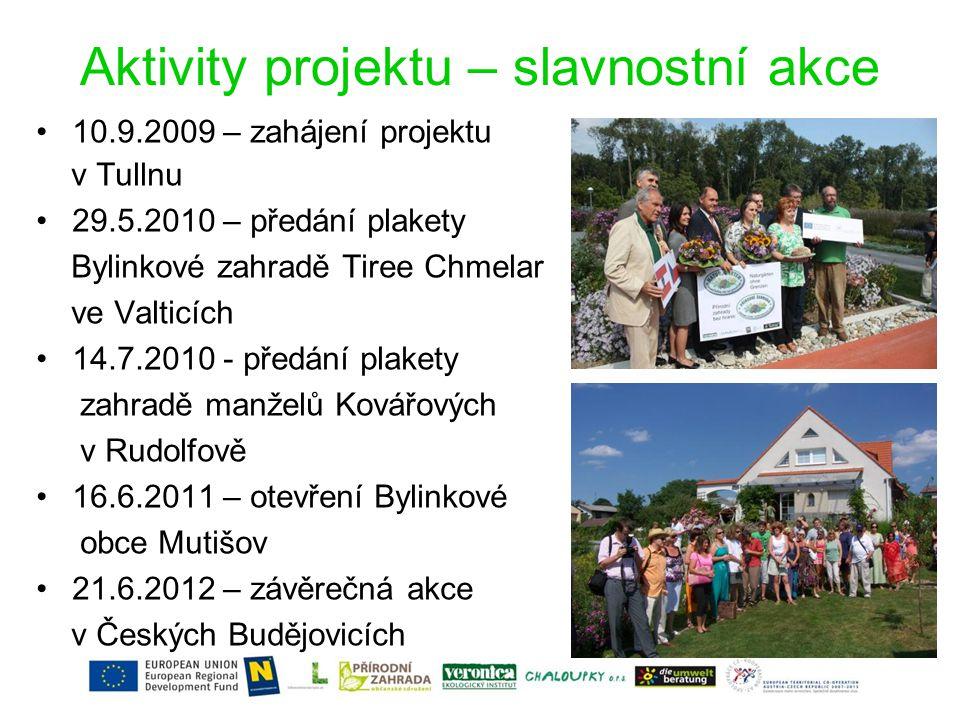 Aktivity projektu – slavnostní akce