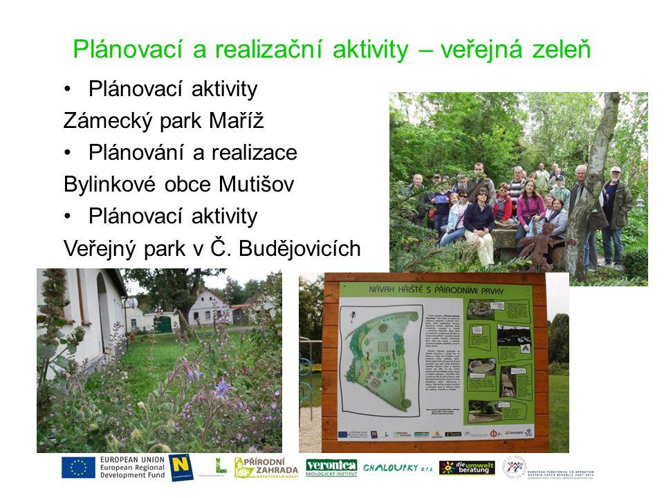 Plánovací a realizační aktivity – veřejná zeleň